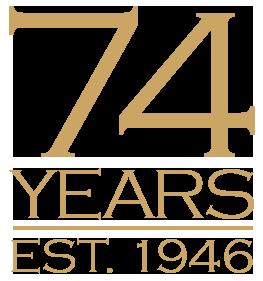 74 Years Logo