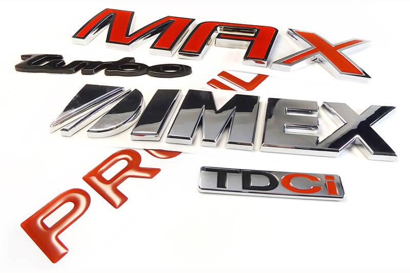Chrome Automotive Badges