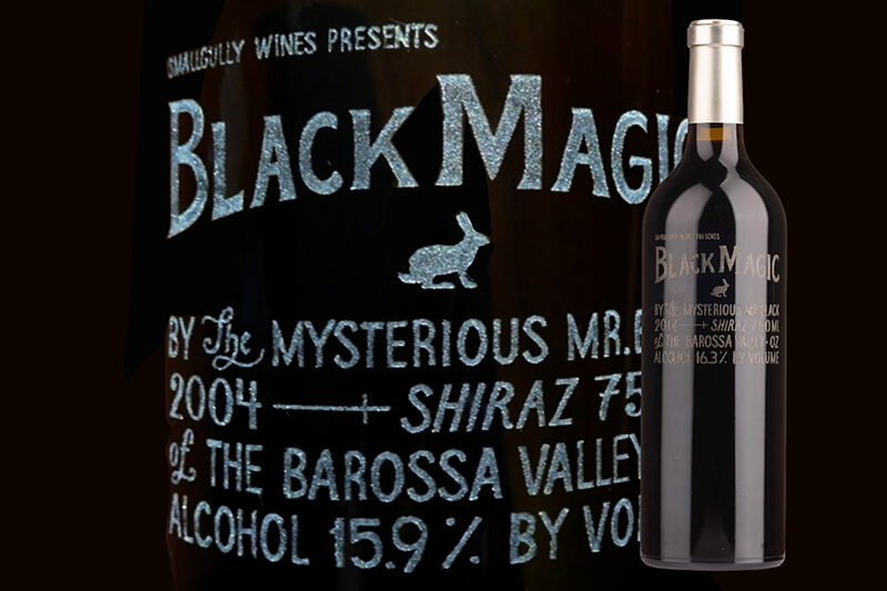 Etched Small Gully Black Magic Shiraz