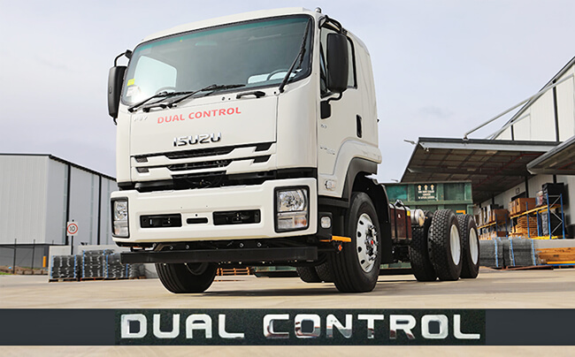 Isuzu Truck Dual Control Chrome Badge