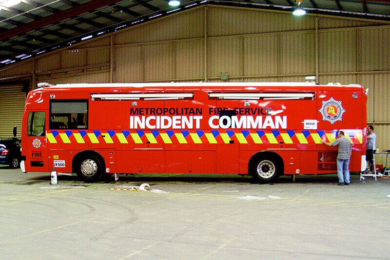 Metropolitan Fire Service Bus Graphics
