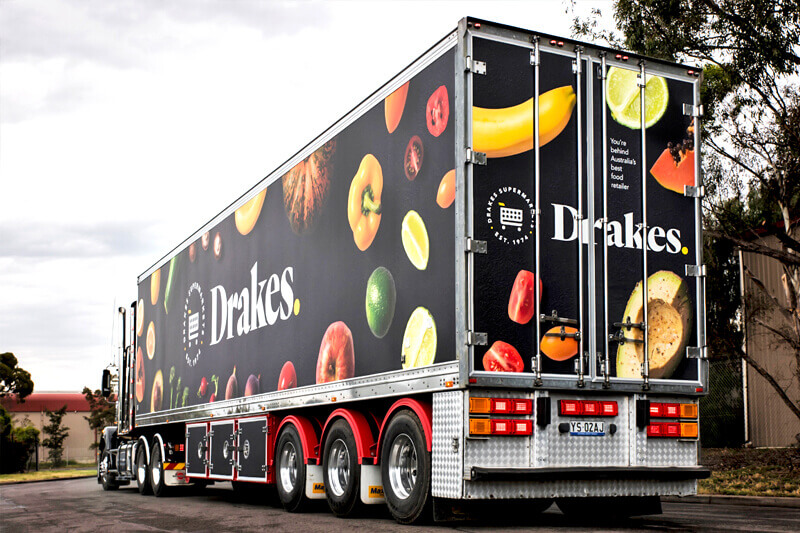 Drakes Supermarket Truck Graphics