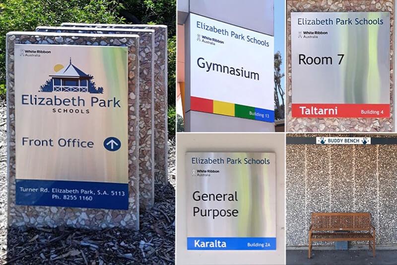 Wayfinding Signs Elizabeth Park School