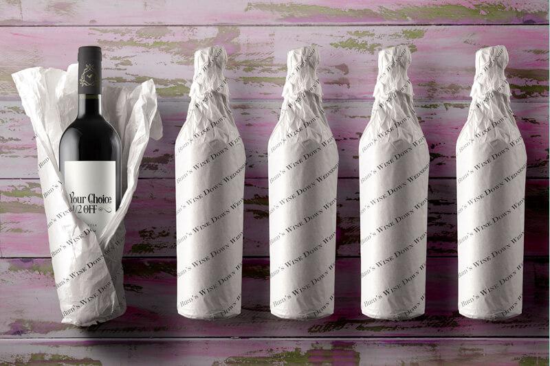Tissue Wrapped Wine Bottles